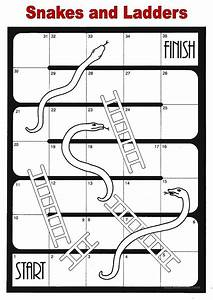 14 free esl snakes and ladders worksheets With printable snakes and ladders template