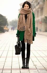 Chunky Wolle Xxl : chunky scarfs stricken mit dicker wolle modetrend mode ~ Watch28wear.com Haus und Dekorationen