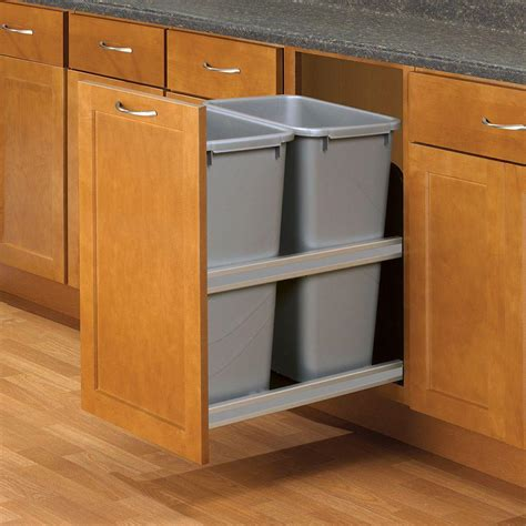 pull out trash cabinet knape vogt 23 in d x 15 in w x 22 in d plastic in