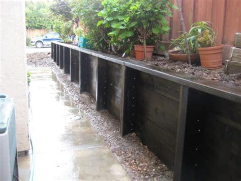 pressure treated retaining wall pressure treated retaining walls yelp
