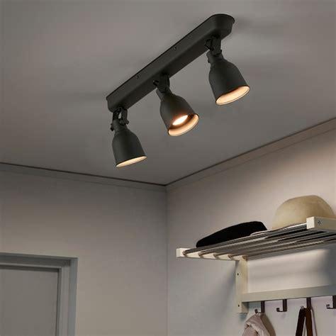 hektar ceiling track  spotlights dark gray ikea