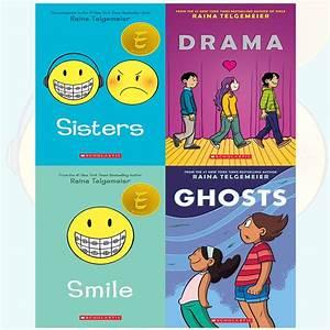 Raina Telgemeier Collection Sisters 4 Books Set Drama ...