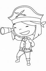 Coloring Pirate Pages Azcoloring Popular Template Coloringhome sketch template