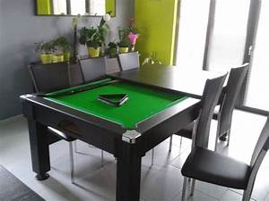bonne affaire a petit prix table de billard convertible With table de billard transformable en table de salle a manger