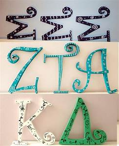 93 best crafting ideas images on pinterest sorority With big greek letters