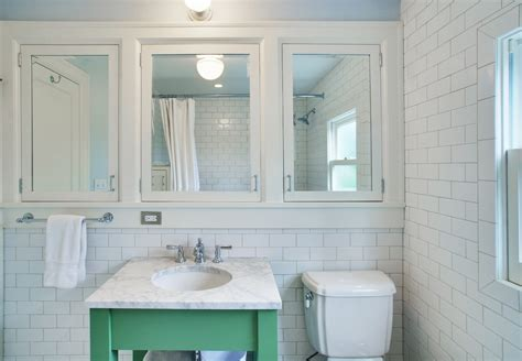 mirrored medicine cabinet bathroom transitional with