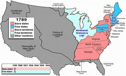 Slavery Map America Civil States United War