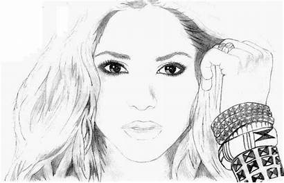 Shakira Coloring Pages Famous Deviantart Drawings