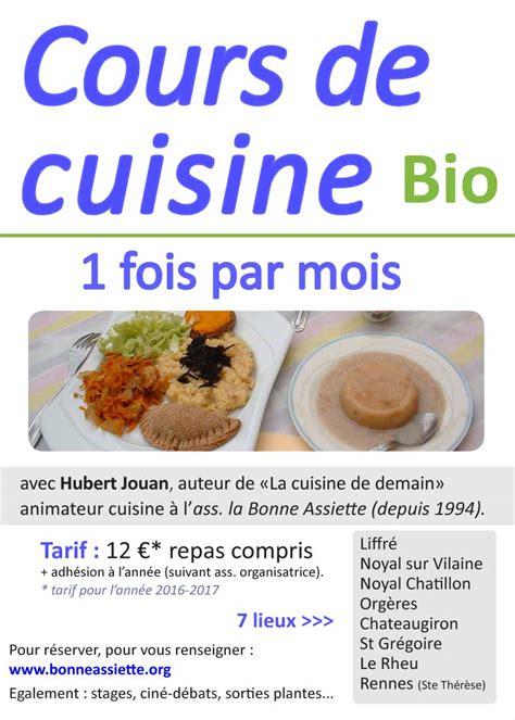 cuisine bio ibb ateliers de cuisine bio avec la bonne assiette ibb