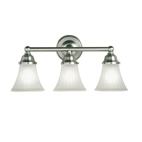 Brushed Nickel Bathroom Lighting Fixtures by Shop Portfolio 3 Light Vassar Brushed Nickel Bathroom