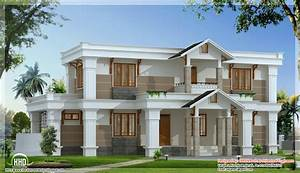 modern mix sloping roof home design 2650 sqfeet With pictures of modern houses designs