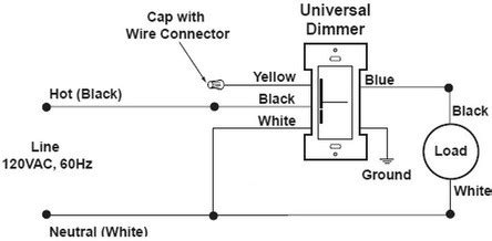 New Dimmer Switch Has Aluminum Ground Can Attach