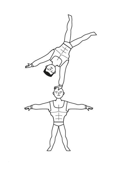 ausmalbild berufe akrobaten im zirkus kostenlos ausdrucken