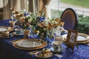 royal blue and gold wedding decorations vintage meets glam wedding inspiration the magazine