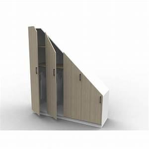 Placard Escalier : placard sous escalier sur mesure ~ Carolinahurricanesstore.com Idées de Décoration