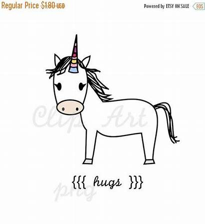 Unicorn Clip Well Clipart Hugs Hug Wishes