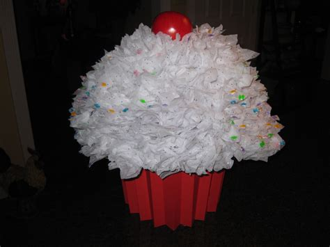 Big Cupcake Valentines Card Holder. Made From Plastic Bowl