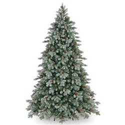 national tree co feel real frosted caldwell artificial christmas tree internet gardener