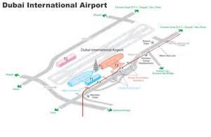 Dubai International Airport Map