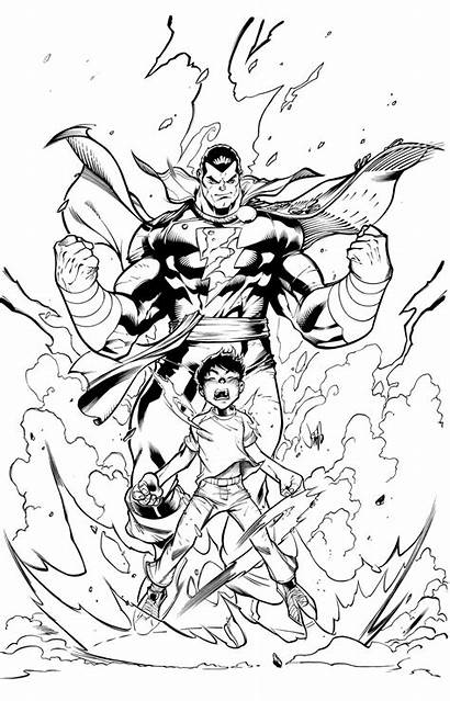 Shazam Marvel Captain Coloring Comic Colouring Pages