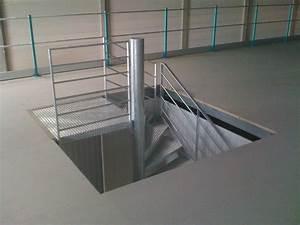 Trémie escalier mezzanine industrielle