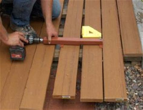 Trex Decking Spacing Tool by Deck Board Straightening Tool Straighen Any Crooked Board