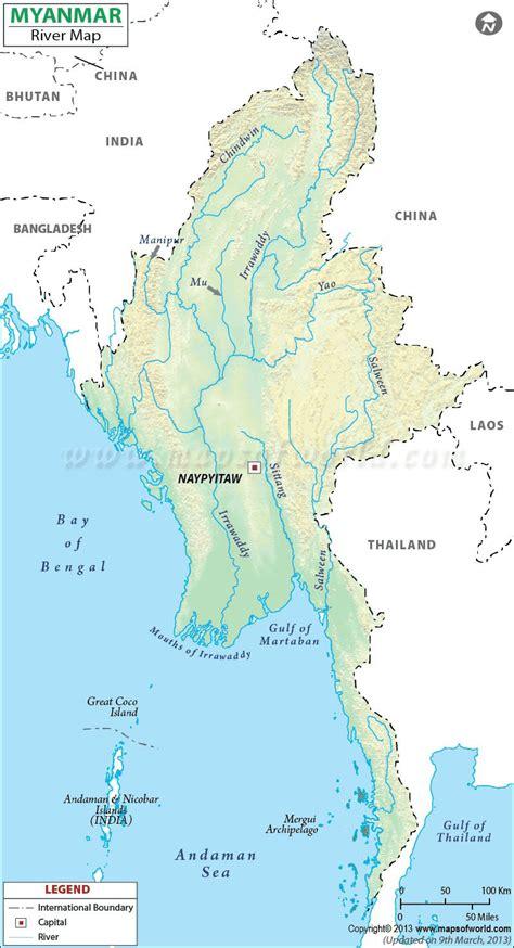 myanmar river map burma rivers