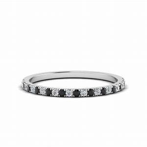 simple thin wedding band with black diamond in 14k white With black diamond wedding bands rings