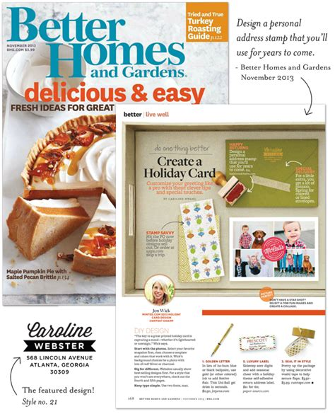 Better Homes And Gardens Mailing Address return address st featured in better homes and gardens
