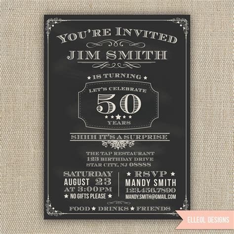 21st 30th 40th 50th 60th Surprise Birthday Party Etsy