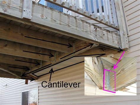 problem  attaching  deck   cantilevered floor