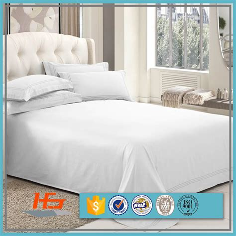 High Quality Cheap Wholesale White Cotton Sateen Bedding