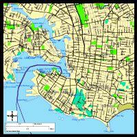 victoria british columbia digital vector maps