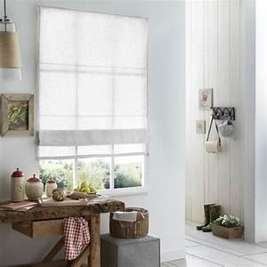 Store En Lin : store bateau 100 lin blanc naturel gris ~ Edinachiropracticcenter.com Idées de Décoration
