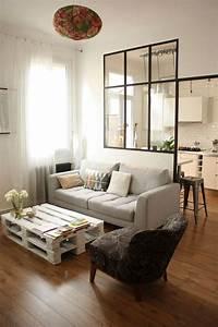 Deco Pour Salon : d co salon une verri re pour s parer un salon et une cuisine leading ~ Teatrodelosmanantiales.com Idées de Décoration