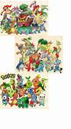 All Pokemon Starters Gen 1 6 All pokemon starters gen 1-5by