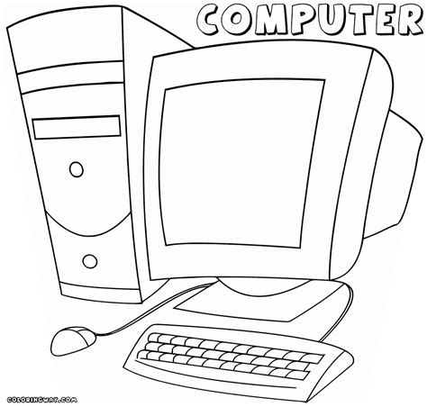 computer coloring pages coloring pages    print