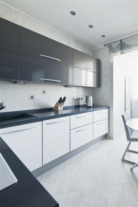 cuisine blanc laqué pas cher cuisine quipe grise laque photo cuisine moderne design