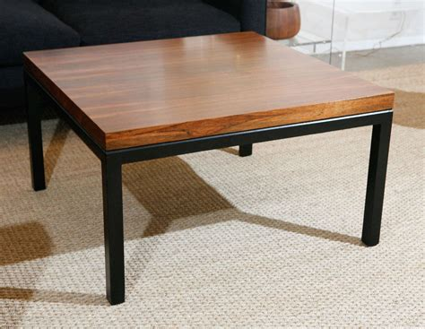 milo baughman coffee table milo baughman for thayer coggins square rosewood coffee