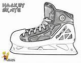 Hockey Coloring Skates Ice Sheets Pages Skate Yescoloring Boys Trick Players Sheet Real Hat Sports sketch template