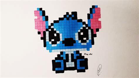 Kawaii Baby Stitch Pixel Drawing