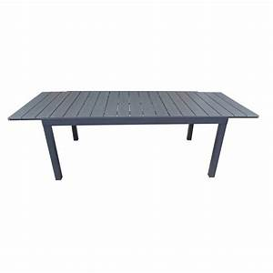 table de jardin naterial pratt rectangulaire gris leroy With table de jardin aluminium leroy merlin 3 table de jardin rectangulaire en bois