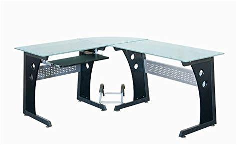 compare techni mobili l shaped glass computer desk