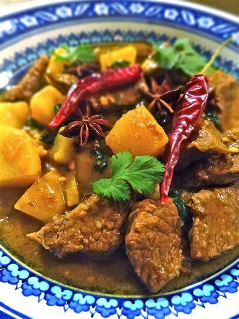 scrumpdillyicious massaman beef curry  thai culinary