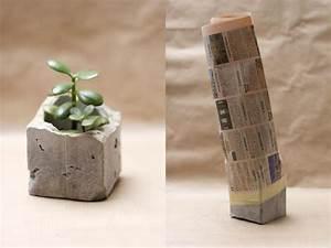 Zement Zum Basteln : basteln mit zement vasen oder blument pfe woman at ~ Lizthompson.info Haus und Dekorationen