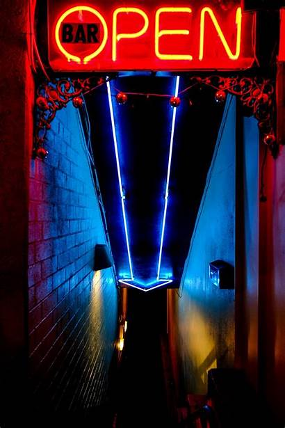 Neon Bar Lights Sign Signs Aesthetic Night