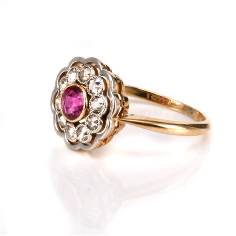 ruby deco ring deco ruby and cluster ring