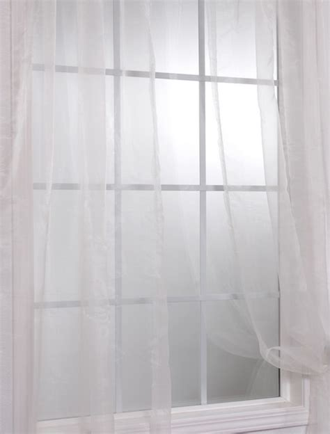 white solid faux organza sheer curtain contemporary