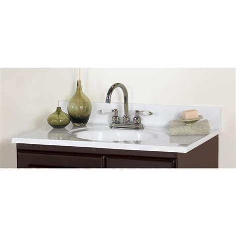 """At american standard it all begins with our unmatched legacy of quality and innovation that has lasted for more than 140 years.we provide the style and performance that fit perfectly into the life, whatever that may be. 37"""" Classic Vanity Top at Menards 