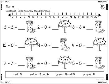 addition and subtraction within 20 worksheets with number lines